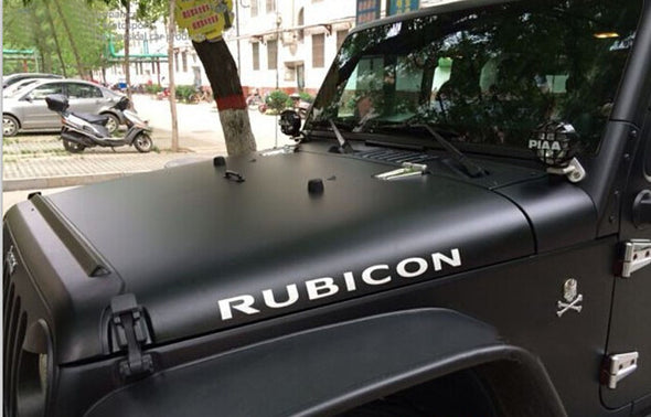 Jeep Rubicon Hood Decals