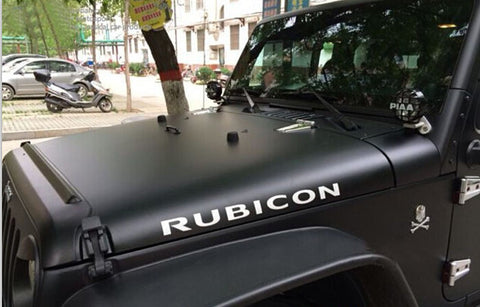 2PCS Jeep Rubicon Hood Decals