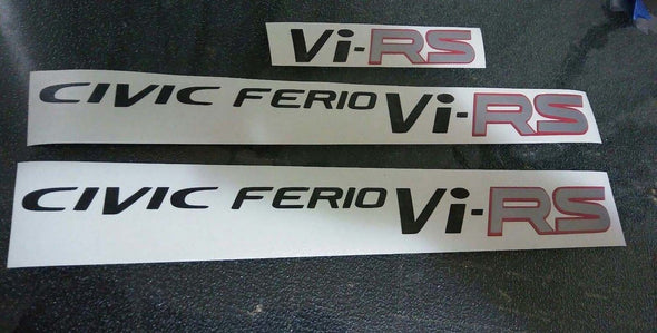 Honda Civic Ferio VI-RS Decal Restoration Kit 3 PCS