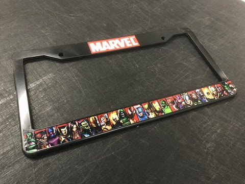 Marvel Characters License Plate Frame