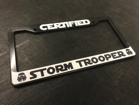 Certified Storm Trooper License Plate Frame