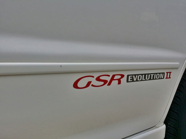 2 PCS Evolution II GSR Side Door Decal Replica OE Size