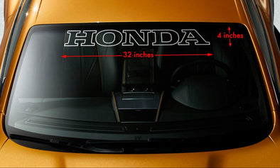 Honda Windshield Decal Sticker