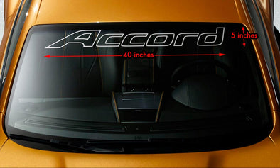 Accord Logo Windshield Decal Sticker
