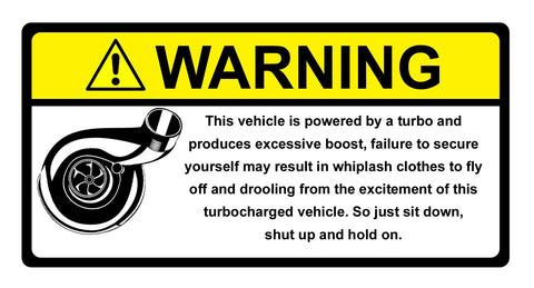 Warning Label Turbo #2