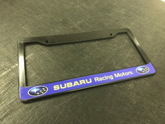 Subaru Racing License Plate Frame