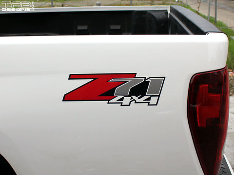 2PCS Z71 4x4 Side Decals