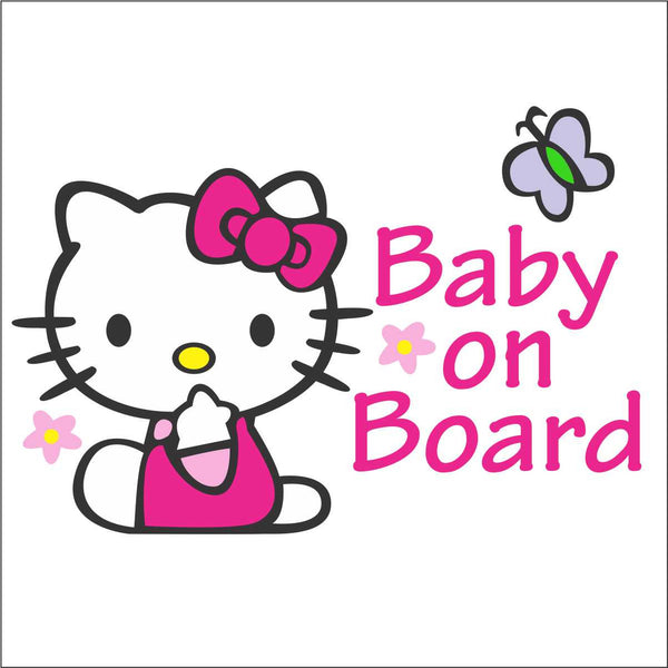 hello kitty baby on board bomex graphics. Black Bedroom Furniture Sets. Home Design Ideas