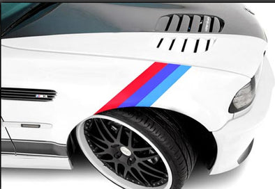 BMW M Color Stripe Decals