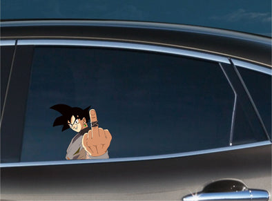Goku Middle Finger Peeking