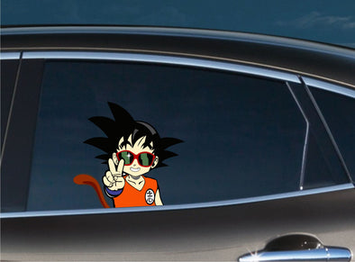 Young Goku Peace Peeking