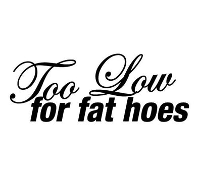 Too Low for fat hoes