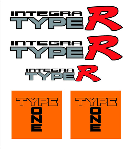 Integra Type R Restoration Decal Kit