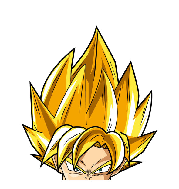 Son goku Super Saiyan Peeking