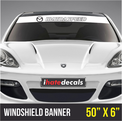Windshield Banner Mazdaspeed