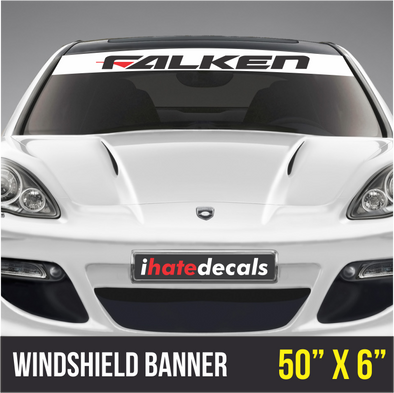 Windshield Banner Falken