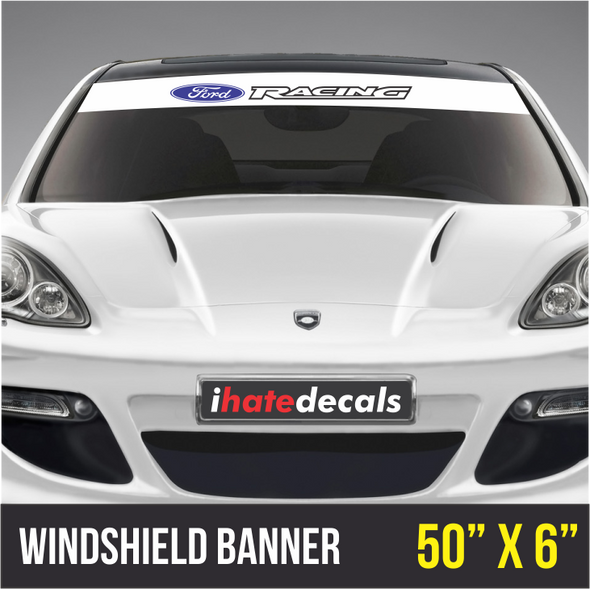 Windshield Banner Ford Racing