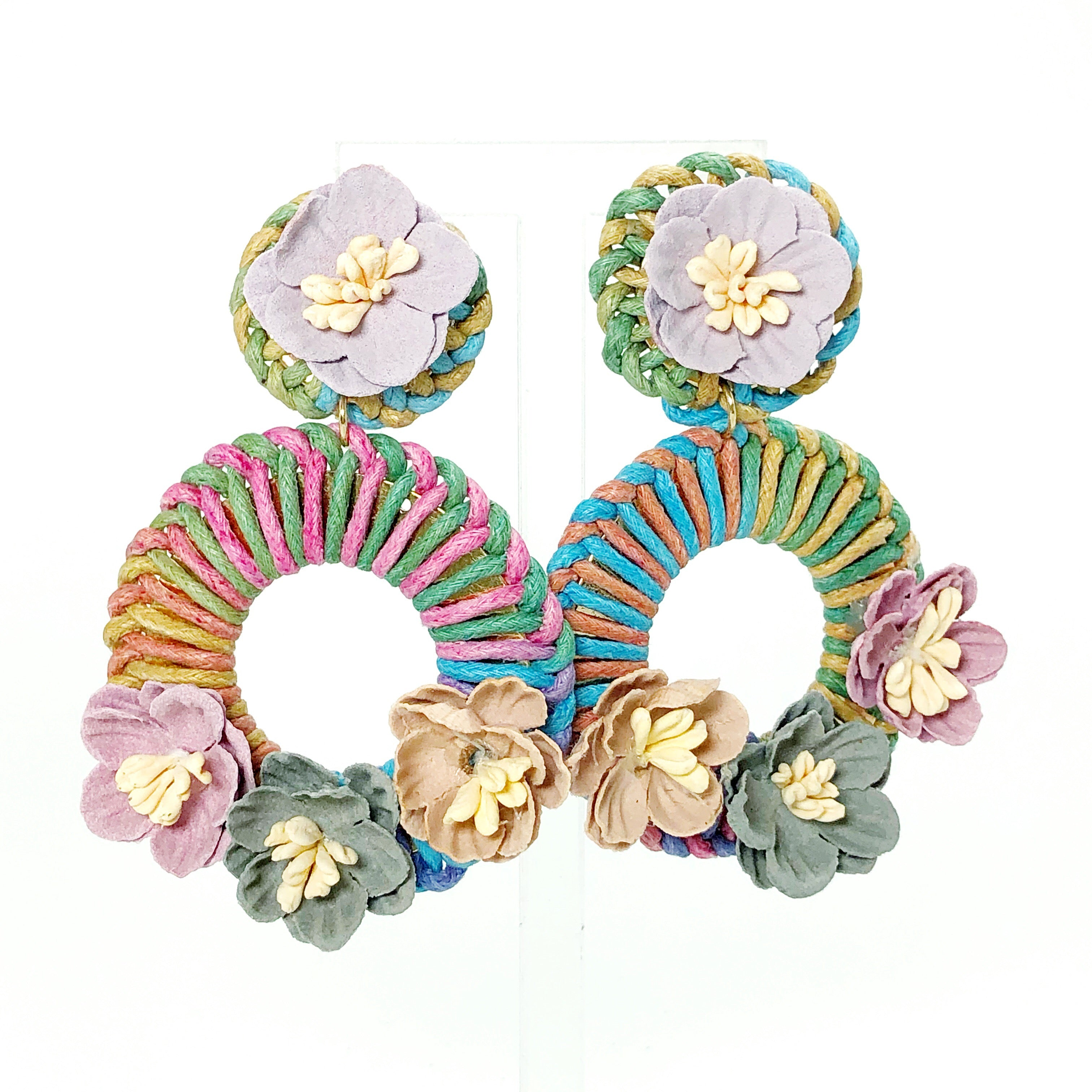 Muted Floral Earrings