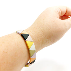 Muted Rainbow Triangle Bracelet