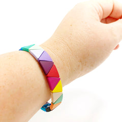 Rainbow Triangle Bracelet