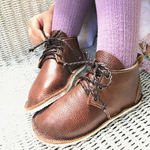 Vintage leather oxfords