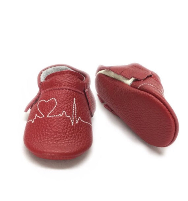 EKG Bow leather moccasins