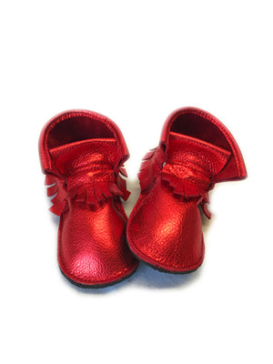 Christmas solid fringe high tops with rubber sole