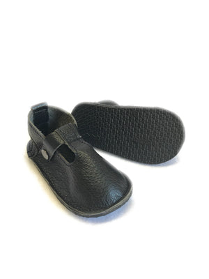 Christmas solid t-straps with rubber sole