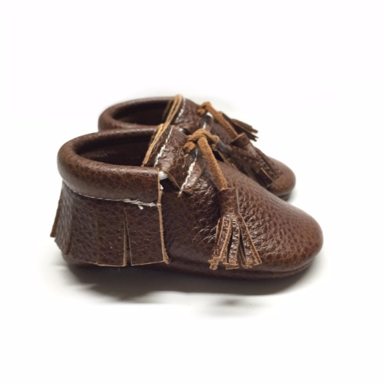 brown tassel moccasins