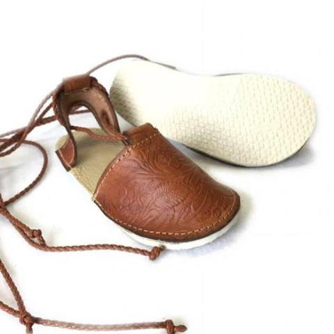 Embossed Lace Up Espadrilles with Rubber Sole