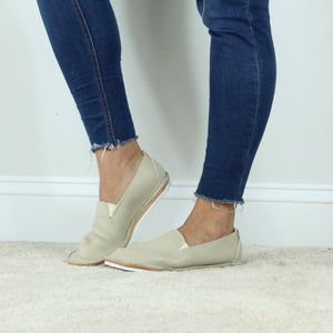 Women's Leather Slip On loafers