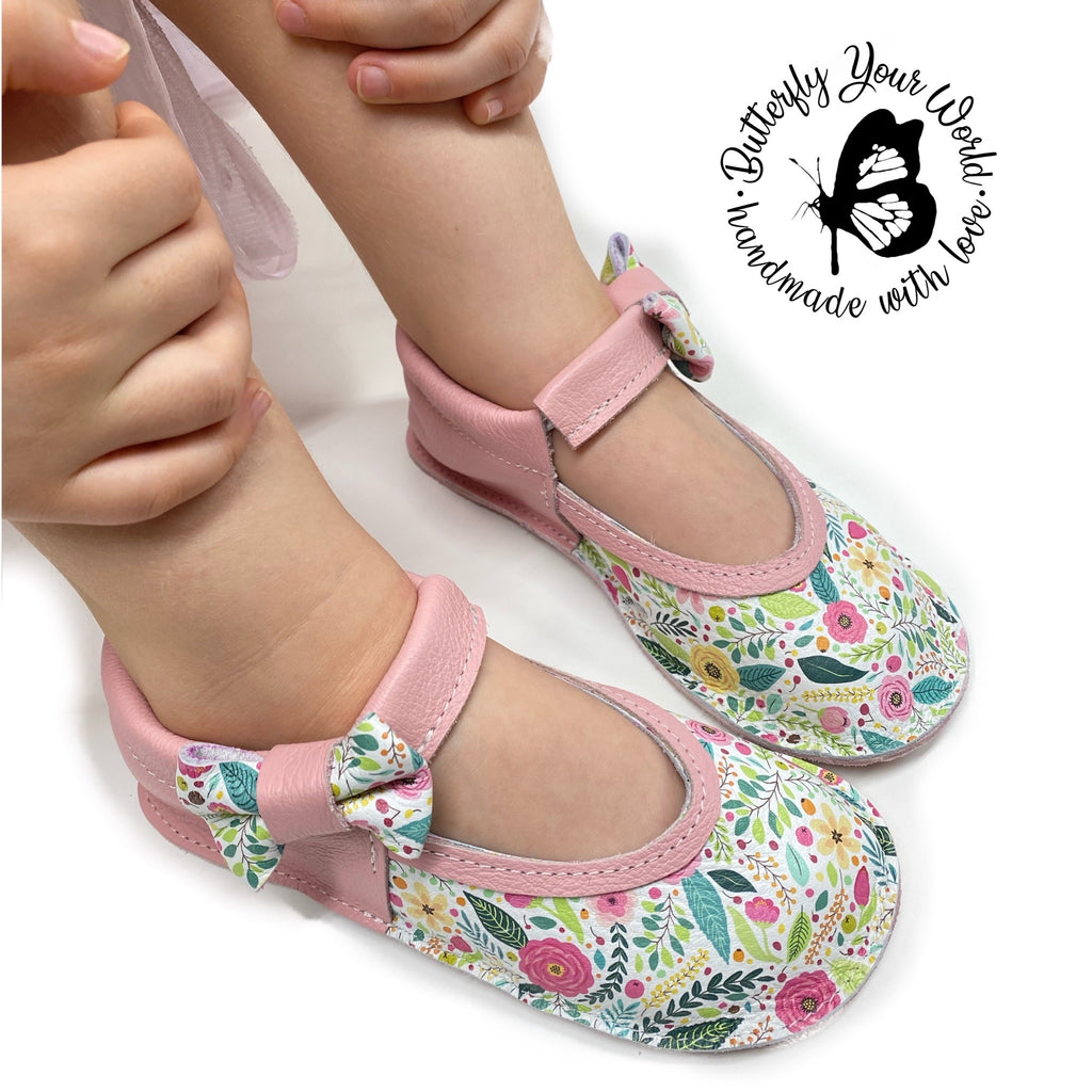Easter Floral leather shoes