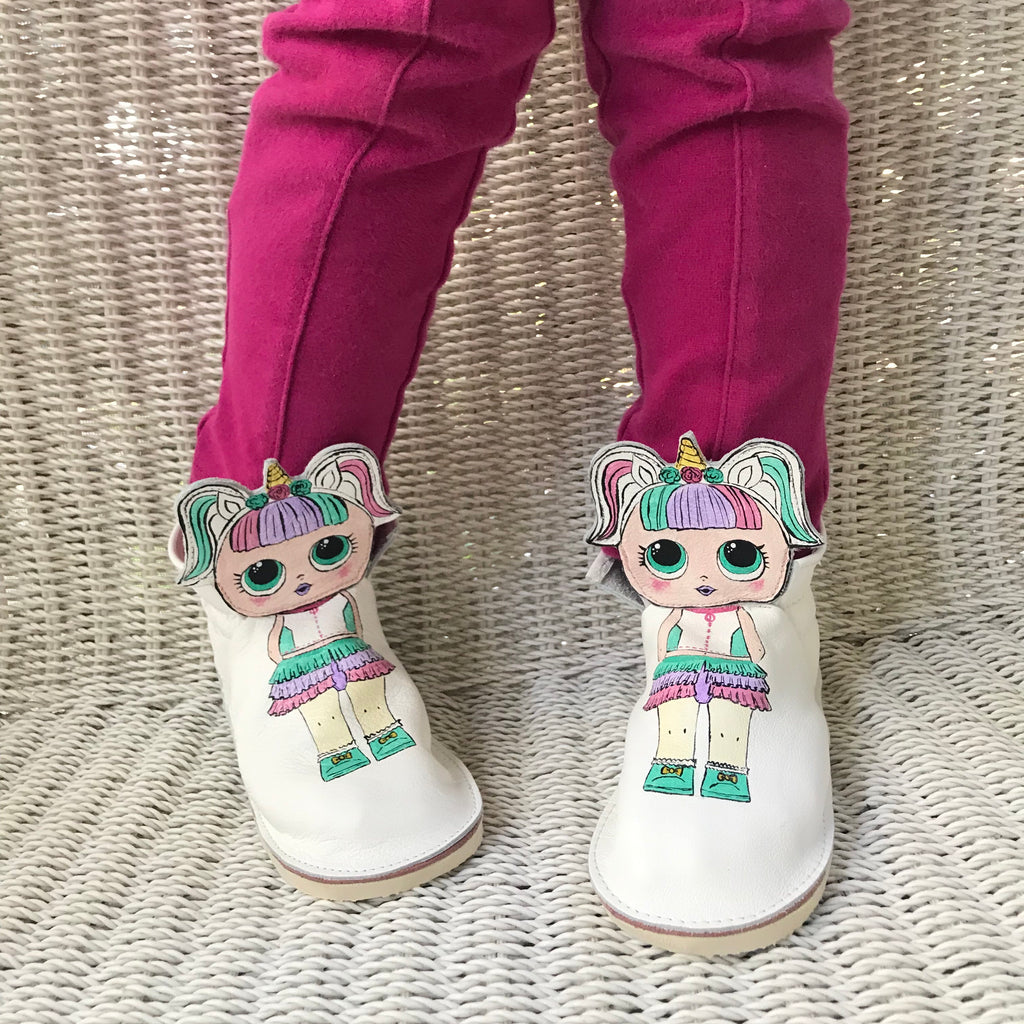 Unicorn LOL ankle boots