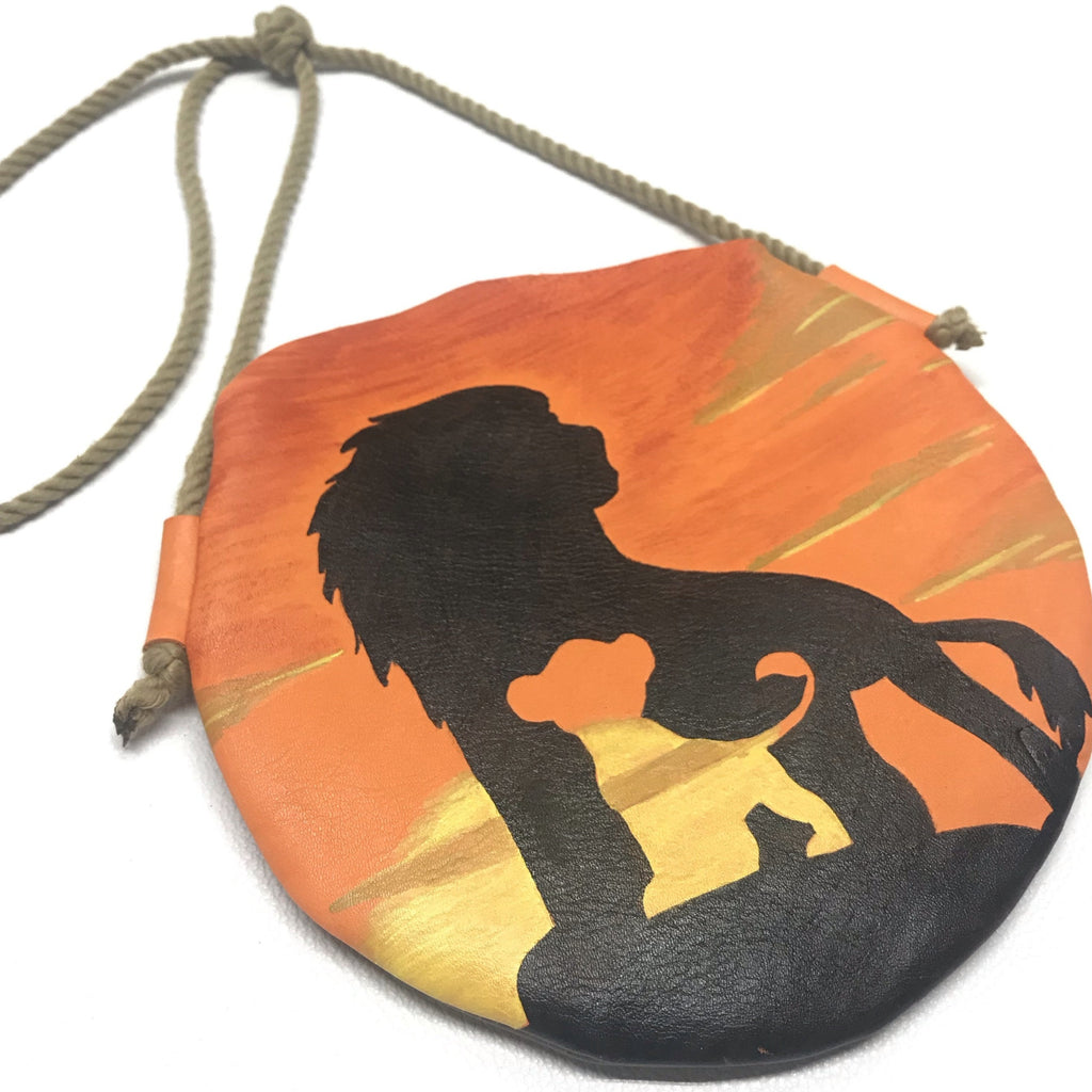 Lion sunset purse