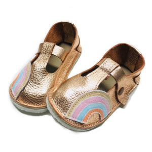 Rainbow T-straps Mary Janes