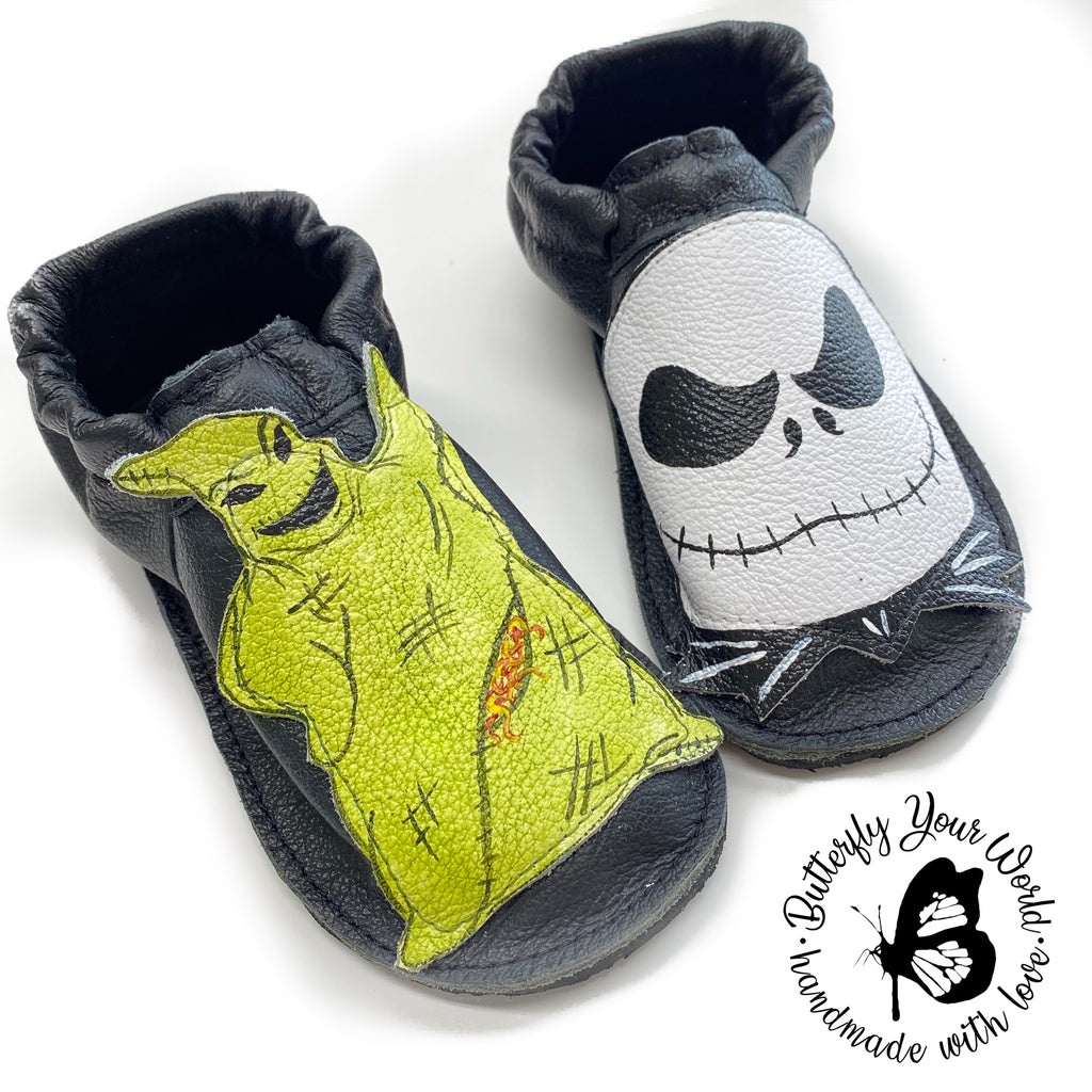 Halloween Skeleton shoes with rubber soles