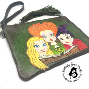 Halloween Witches sisters wristlet purse
