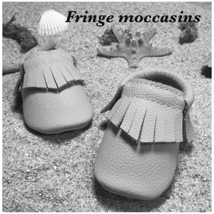 Weathered Black  Baby Leather Moccasins