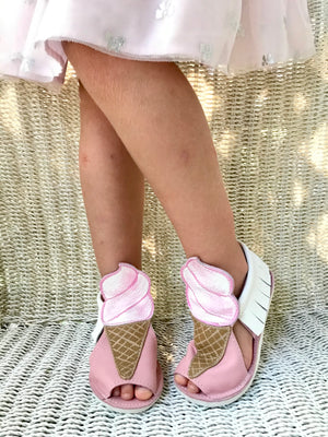 Ice cream sandals with rubber soles