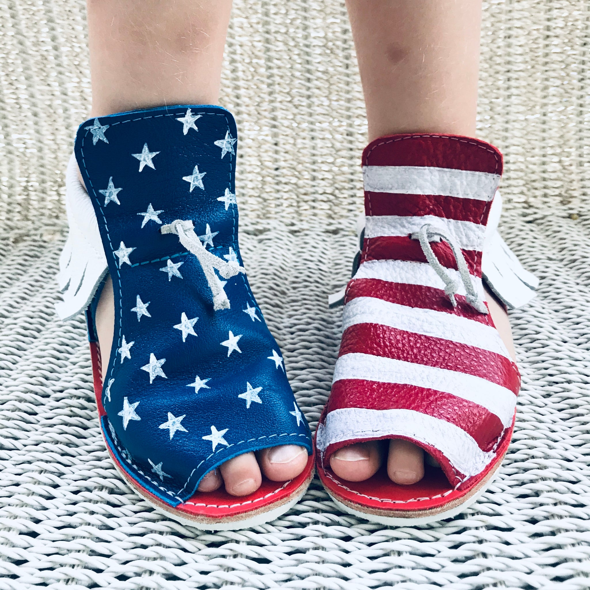 Americana sandals with rubber soles