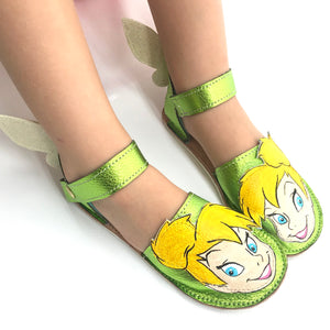 Tink bell green espadrilles with rubber soles