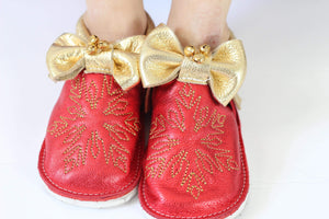Jingle bells shoes with rubber sole