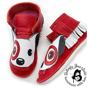 Bullseye dog ankle boots