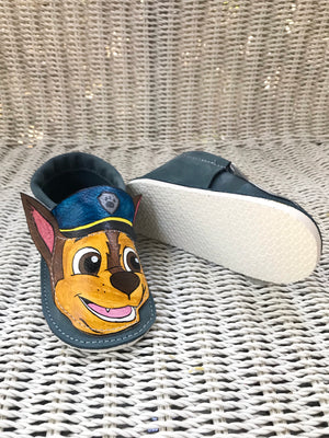 Paw Moccs with rubber soles
