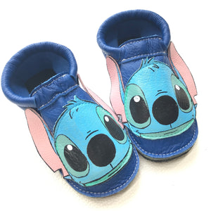Blue alien booties