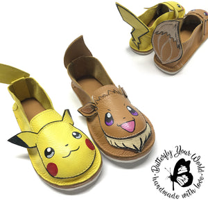 Poke characters with rubber soles