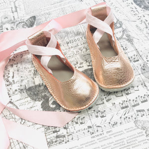 Rubber soles ballerina lace up flats