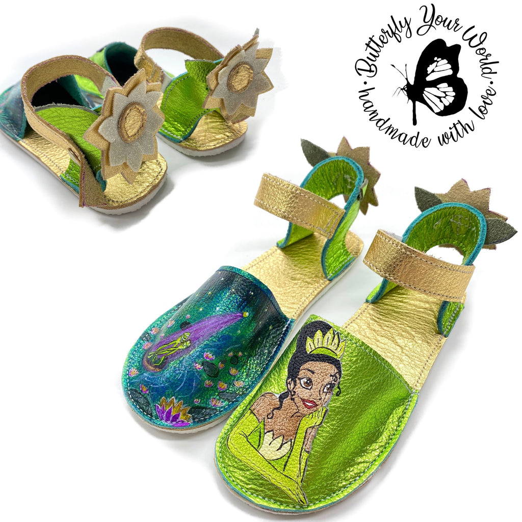Green lime princess espadrilles with rubber soles