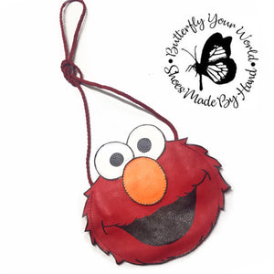 Red cartoon face toddler purse