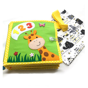 Giraffe baby quiet book